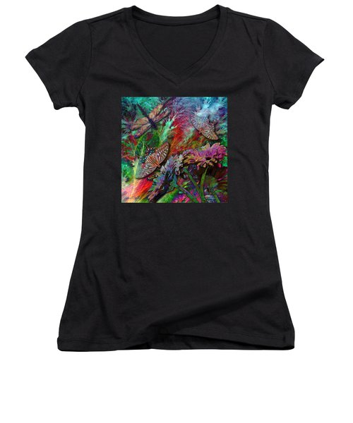 Blooming Color Women's V-Neck