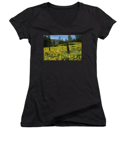 Blooming Fence Women's V-Neck