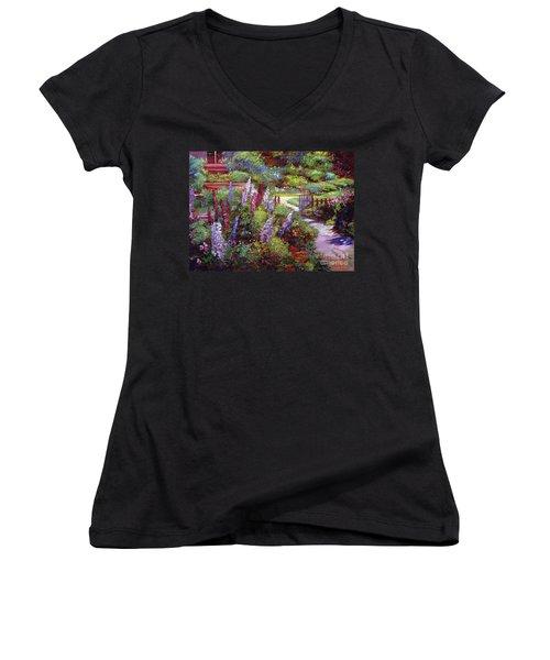 Blooming Splendor Women's V-Neck