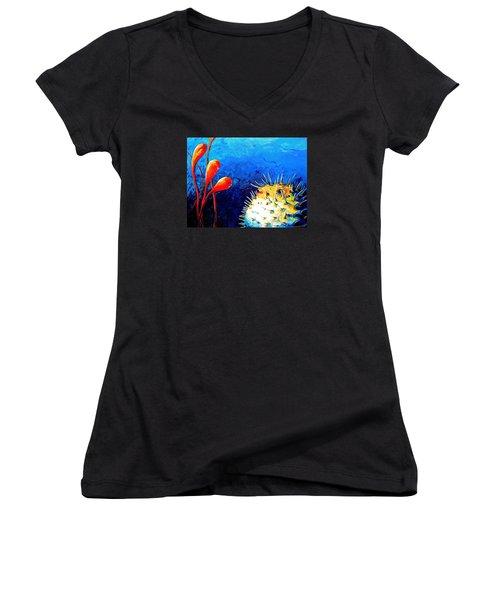 Blow Fish Women's V-Neck T-Shirt