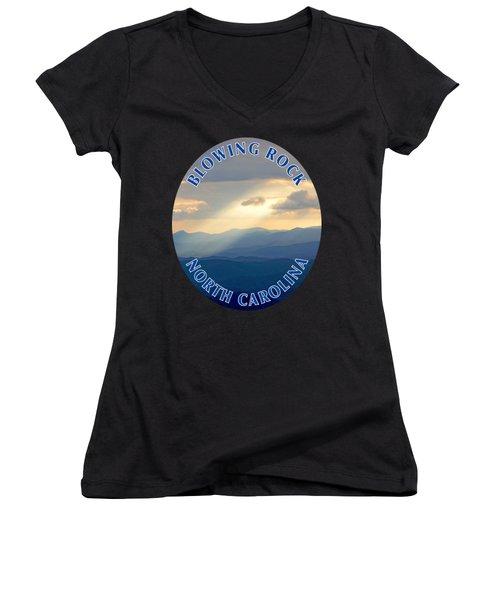 Blowing Rock Mountains T-shirt Women's V-Neck T-Shirt