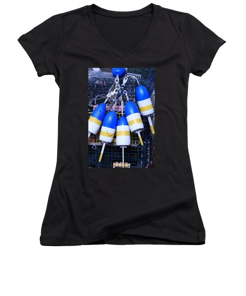 Blue And Gold Bouys Women's V-Neck