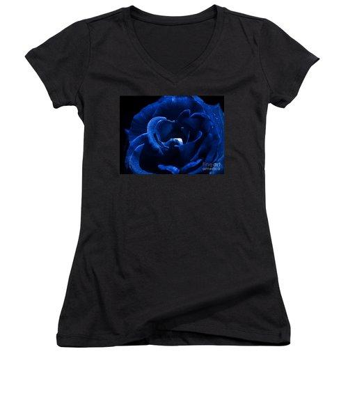 Blue Blue Rose Women's V-Neck T-Shirt