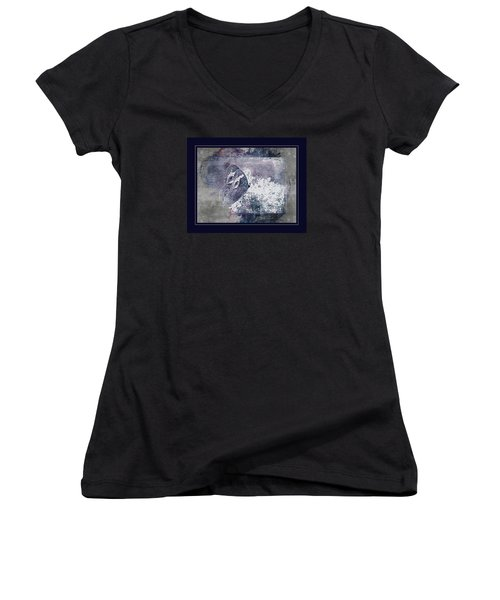 Blue Dreams And Butterflies Women's V-Neck T-Shirt (Junior Cut) by Karen McKenzie McAdoo