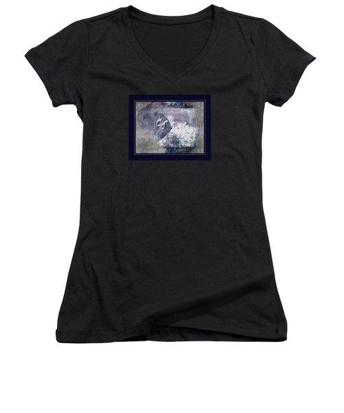 Blue Dreams And Butterflies Women's V-Neck T-Shirt