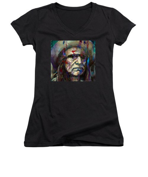 Blue Eyes Crying In The Rain Women's V-Neck (Athletic Fit)