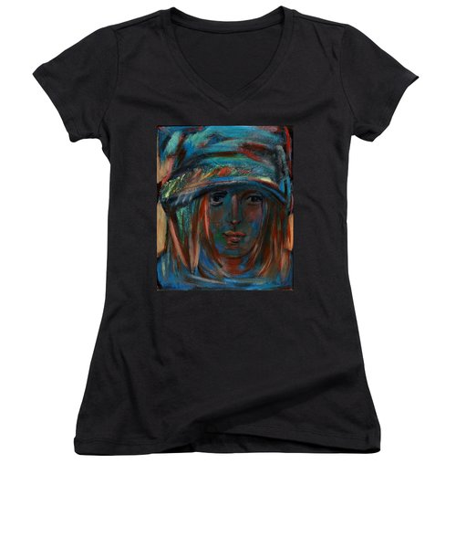 Blue Faced Girl Women's V-Neck
