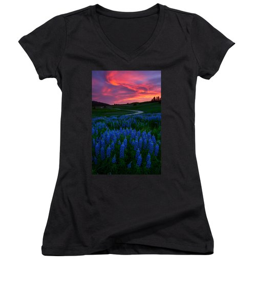Blue Flame Women's V-Neck