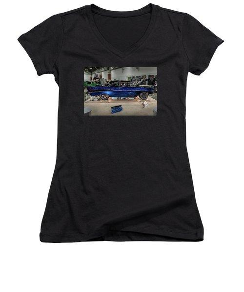 Blue Heaven Women's V-Neck T-Shirt (Junior Cut) by Randy Scherkenbach
