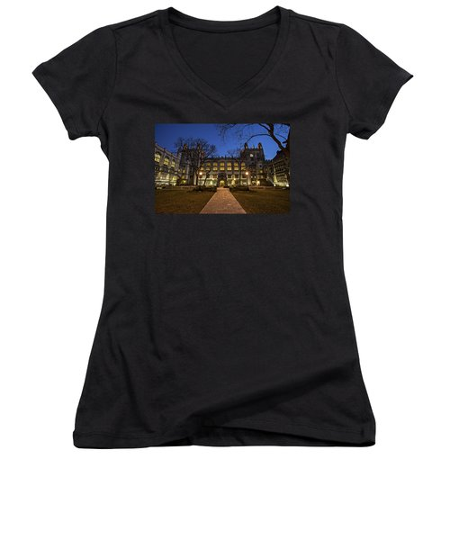 Blue Hour Harper Women's V-Neck T-Shirt (Junior Cut) by CJ Schmit