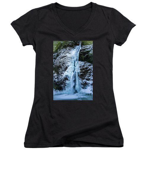 Blue Ice And Water Women's V-Neck