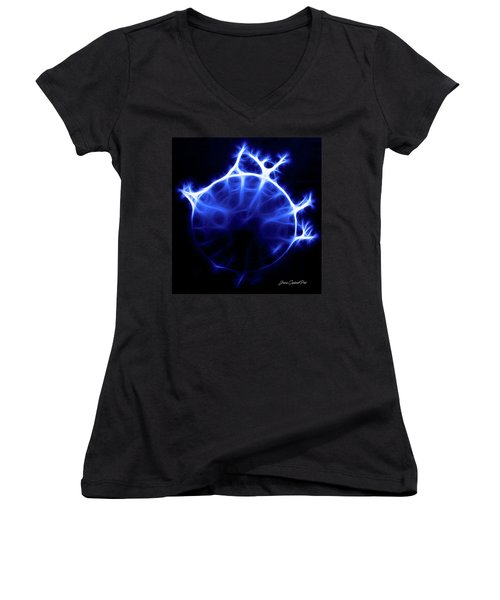 Blue Jelly Fish Women's V-Neck T-Shirt