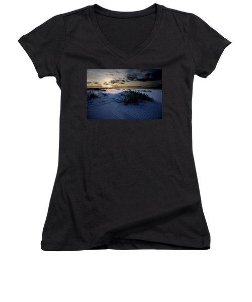 Blue Morning Women's V-Neck T-Shirt (Junior Cut)