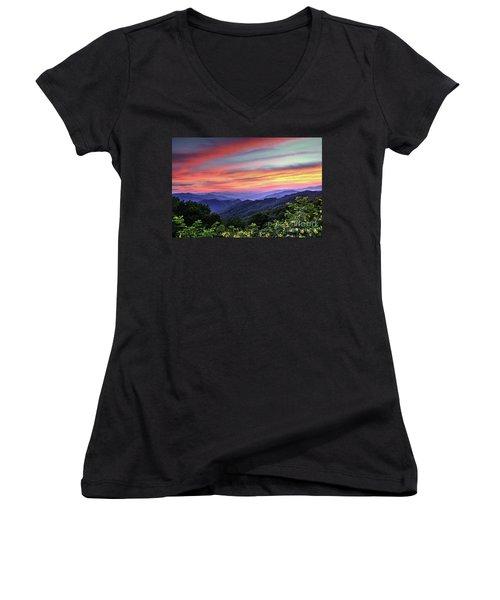 Blue Ridge Mountain Color Women's V-Neck