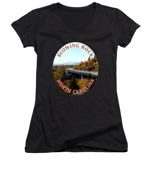 Blue Ridge Parkway T-shirt Women's V-Neck (Athletic Fit)