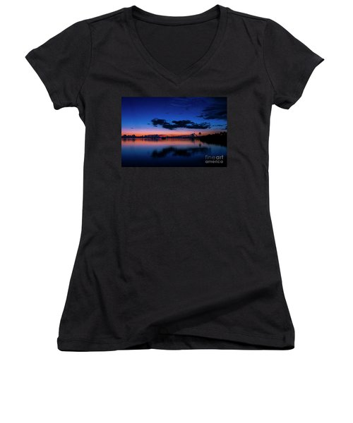 Blue Sky Night Women's V-Neck T-Shirt