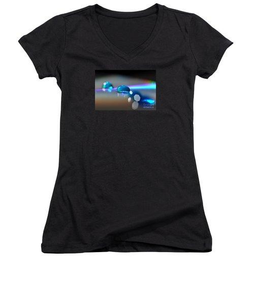 Blue Sparks Women's V-Neck T-Shirt