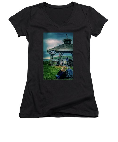 Blues On The Bay Women's V-Neck (Athletic Fit)