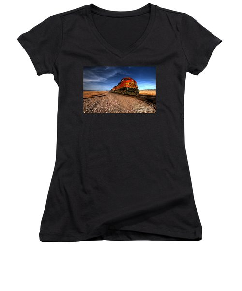 Bnsf Freight  Women's V-Neck (Athletic Fit)
