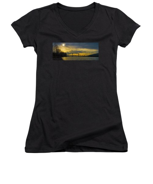 Bnsf Railroad Bridge 5.1 Women's V-Neck