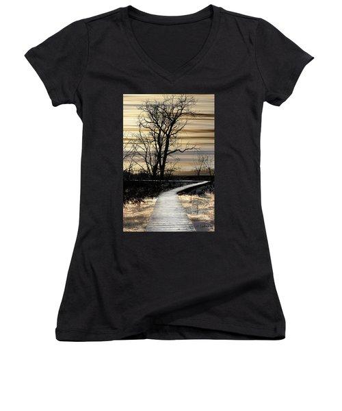 Boardwalk Women's V-Neck T-Shirt (Junior Cut)