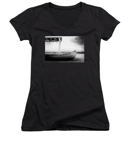Boat Women's V-Neck T-Shirt (Junior Cut) by Celso Bressan