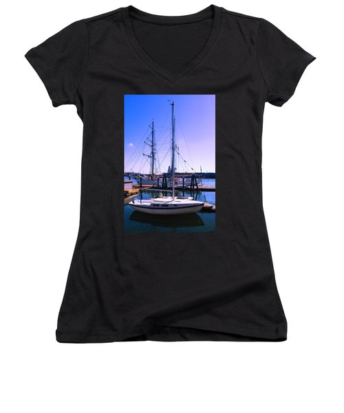 Boats And Ships Women's V-Neck T-Shirt