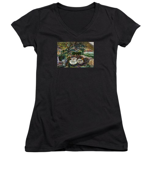 Boats At The Pier. Sold Women's V-Neck T-Shirt