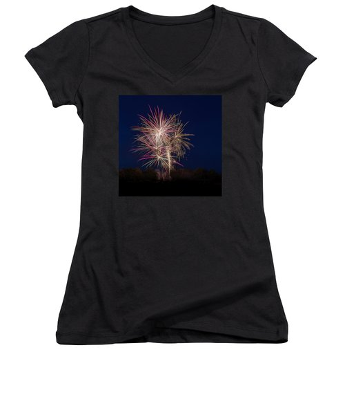 Bombs Bursting In Air IIi Women's V-Neck (Athletic Fit)