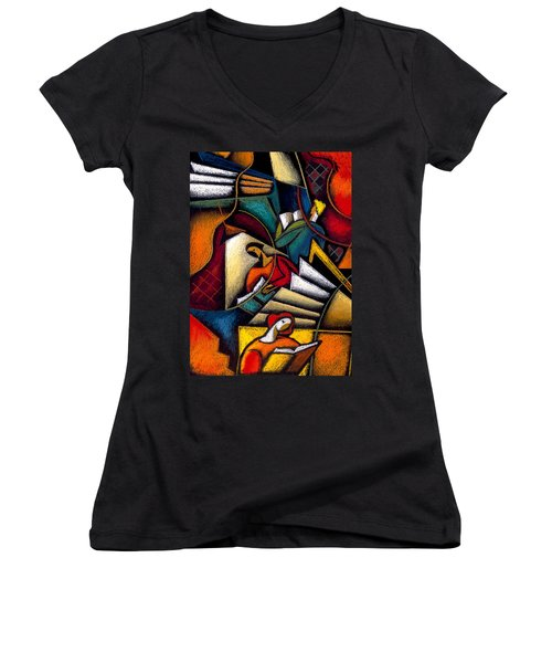 Book Women's V-Neck (Athletic Fit)