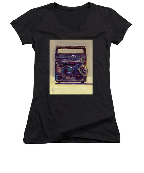 Boom Box Women's V-Neck T-Shirt