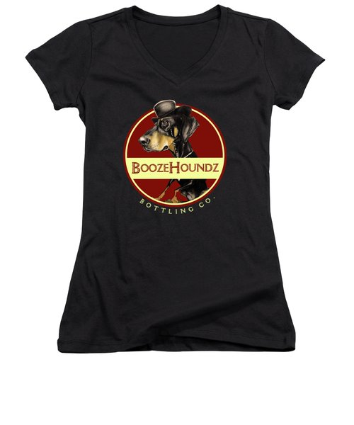 Boozehoundz Bottling Co. Women's V-Neck