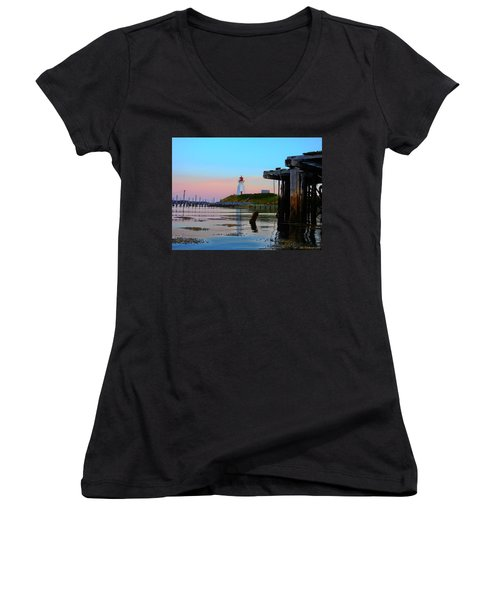 Border Lights Women's V-Neck