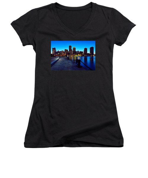 Boston Harbor Walk Women's V-Neck (Athletic Fit)