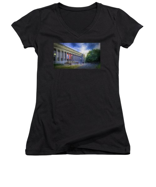 Boston Mfa On The Fenway Women's V-Neck (Athletic Fit)