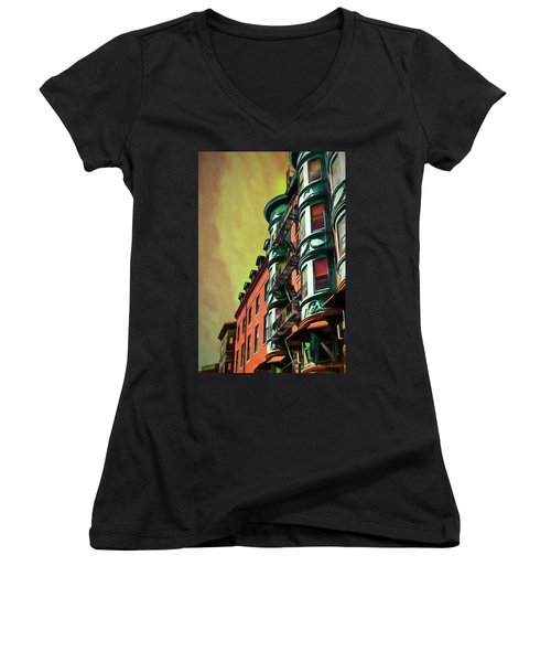 Boston's Famous North Square Women's V-Neck (Athletic Fit)