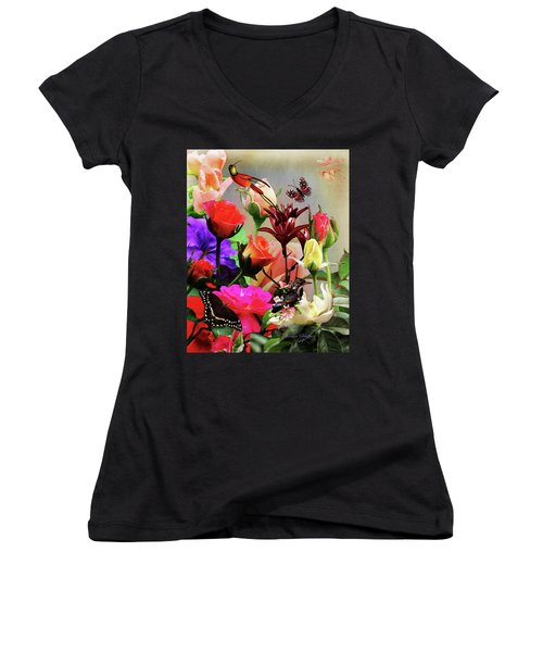Bouquet Women's V-Neck T-Shirt
