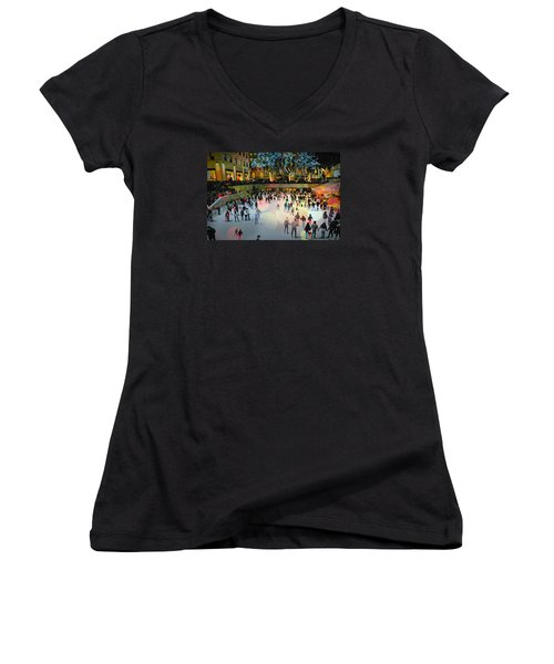 Box Of Crayons Women's V-Neck T-Shirt (Junior Cut) by Diana Angstadt
