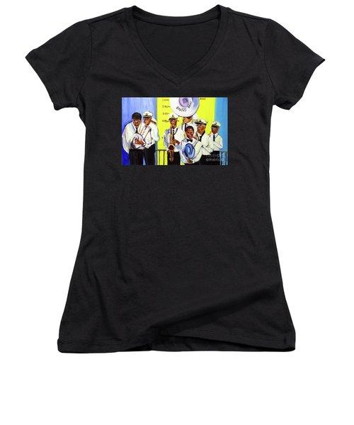 Brass Of  Class New Orleans Women's V-Neck T-Shirt