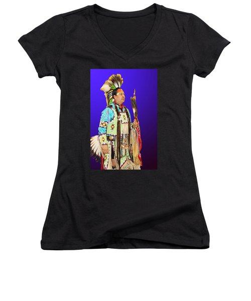 Brave-2 Women's V-Neck T-Shirt (Junior Cut) by Audrey Robillard