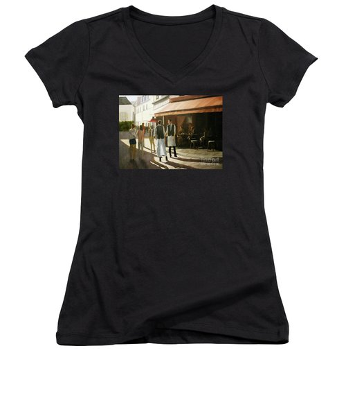 Break Time Women's V-Neck (Athletic Fit)