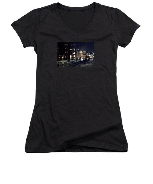 Brethrens House  Women's V-Neck T-Shirt (Junior Cut) by DJ Florek