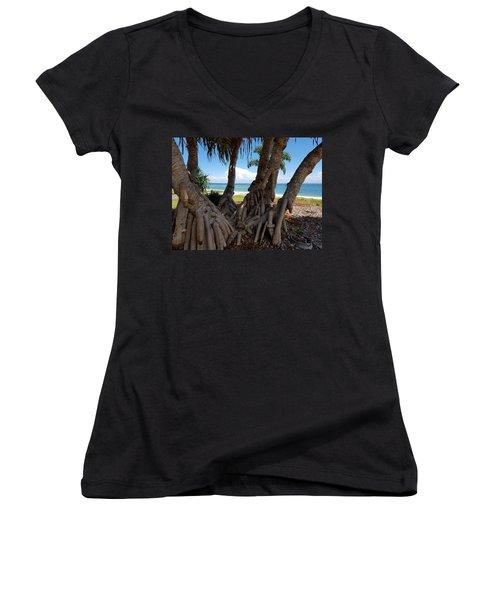 Bribie Trees  Women's V-Neck