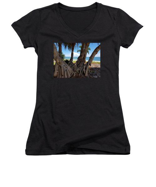 Bribie Trees  Women's V-Neck