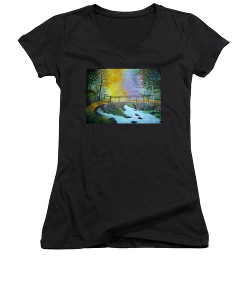 Bridge Over Troubled Water Women's V-Neck T-Shirt