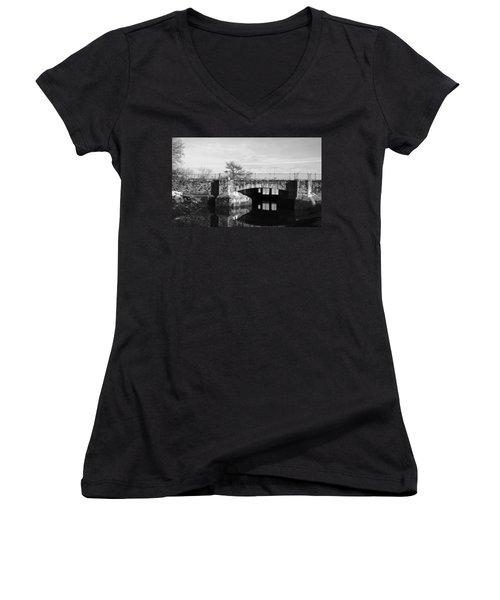 Bridge To Heaven Women's V-Neck T-Shirt (Junior Cut) by Jose Rojas