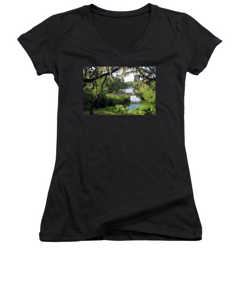 Bridges Over Tranquil Waters Women's V-Neck