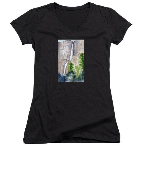 Bridal Veil Waterfall Women's V-Neck T-Shirt