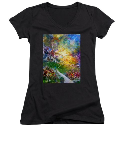 Bright Shiny Day Women's V-Neck