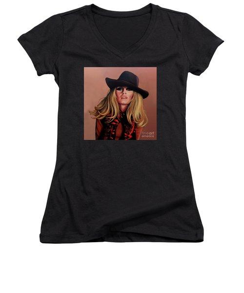 Brigitte Bardot Painting 1 Women's V-Neck